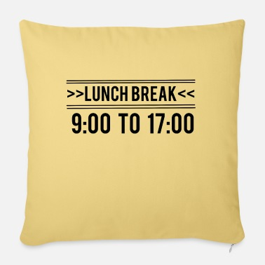 Lunch Break Lunch Break - Lunch break - Sofa pillow with filling 45cm x 45cm