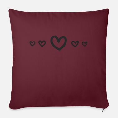 Heart line - Sofa pillow with filling 45cm x 45cm