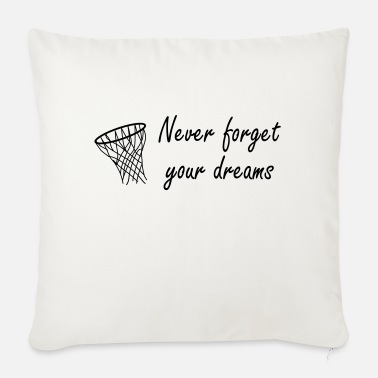 Never Forget Never forget your dreams - Soffkudde med stoppning 44 x 44 cm