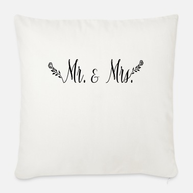 Mrs Mr Wifey mr_mrs_rose - Sofa pillow with filling 45cm x 45cm