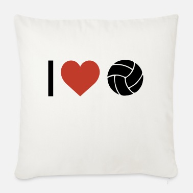 Sport I heart volleyball sport - Sofa pillow with filling 45cm x 45cm