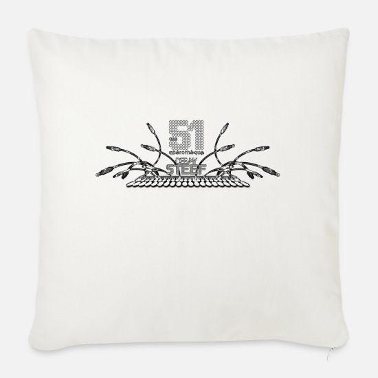 Vinyl Pillow Cases - DEEJAY STEEF - Sofa pillow with filling 45cm x 45cm natural white