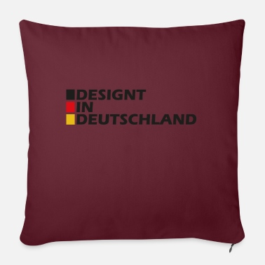 Designed in Germany - Sofa pillow with filling 45cm x 45cm