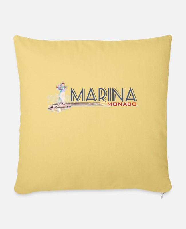 St Tropez Pillow Cases - monaco - Sofa pillow with filling 45cm x 45cm washed yellow