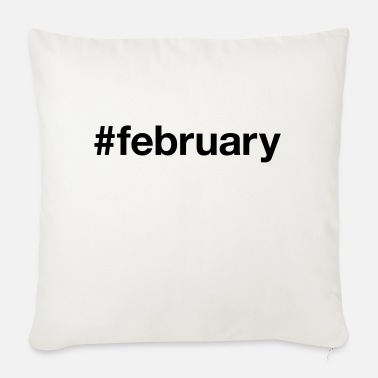 February FEBRUARY - Sofa pillow with filling 45cm x 45cm
