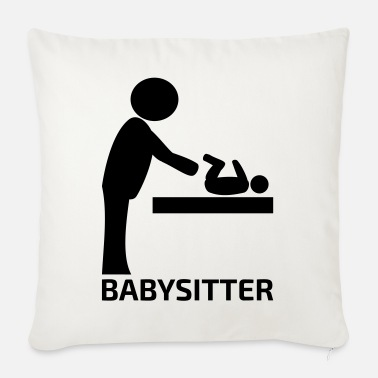 Babysitter pictogram gift for mother father - Sofa pillow with filling 45cm x 45cm