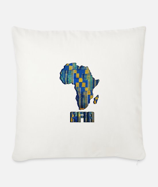 Call Pillow Cases - Call me by my name ! Afia Ghana - Friday. - Sofa pillow with filling 45cm x 45cm natural white