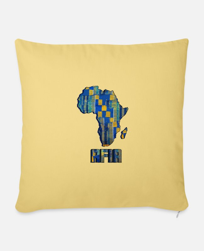 Call Pillow Cases - Call me by my name ! Afia Ghana - Friday. - Sofa pillow with filling 45cm x 45cm washed yellow