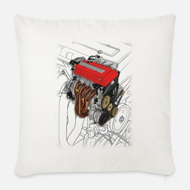 Touge B16 Engine - Sofa pillow with filling 45cm x 45cm