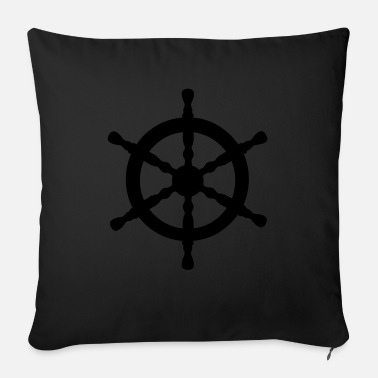 Nautical Nautical Wheel - Sofa pillow with filling 45cm x 45cm