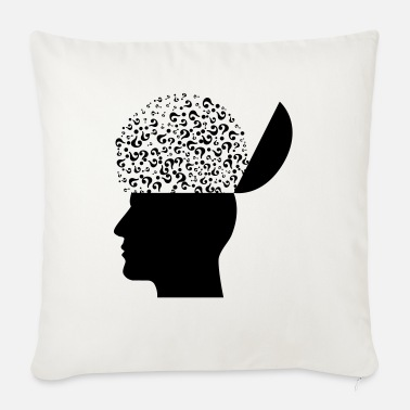 Thoughts head - Sofa pillow with filling 45cm x 45cm