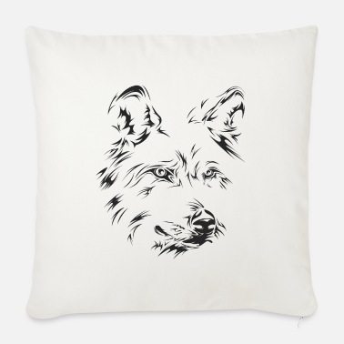 wolf portrait symbol face - Sofa pillow with filling 45cm x 45cm