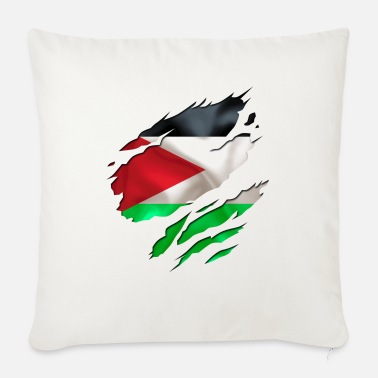 Country Flag Football Sport And Arab Art Jesus cool israel palestine - Sofa pillow with filling 45cm x 45cm