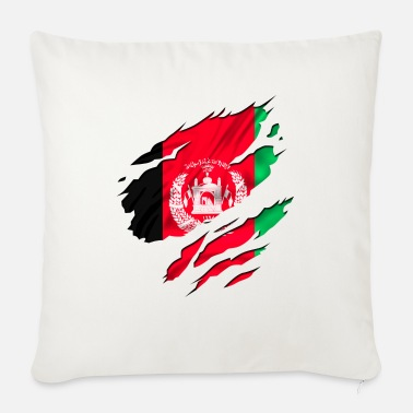 Country Flag Football Sport And Arab Art Jesus afghanistan army peace - Sofa pillow with filling 45cm x 45cm