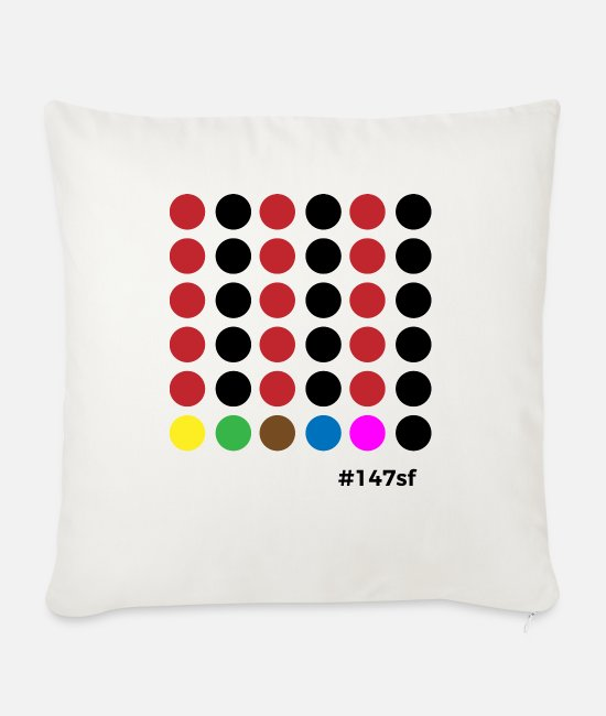Cue Pillow Cases - Snooker # 147sf - Sofa pillow with filling 45cm x 45cm natural white