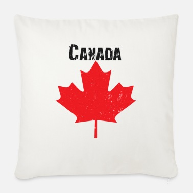 Grungy Grungy Maple leaf design - Sofa pillow with filling 45cm x 45cm