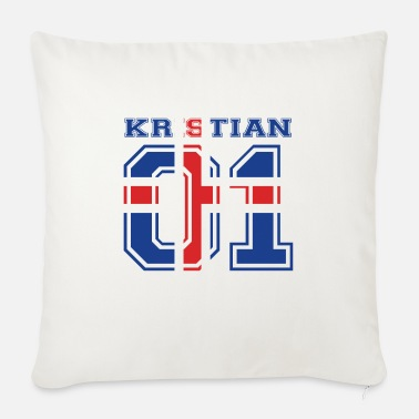 Kristian home roots name iceland island KRISTIAN - Sofa pillow with filling 45cm x 45cm