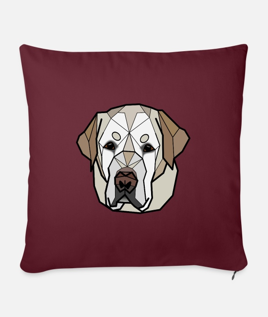 Labrador Pillow Cases - Labrador sand - Enko - Sofa pillow with filling 45cm x 45cm burgundy