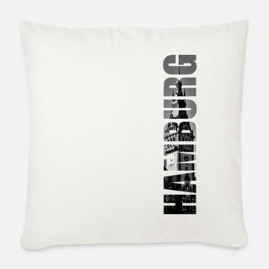 Town Hall Hamburg town hall - Sofa pillow with filling 45cm x 45cm