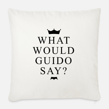 What Would Guido Say? Fan fun with crowns - Sofa pillow with filling 45cm x 45cm