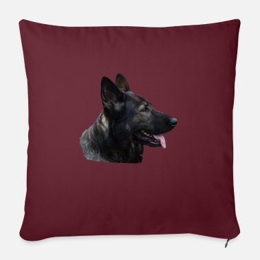Shepherd, dog head, dog face, dog, dogs, - Sofa pillow with filling 45cm x 45cm