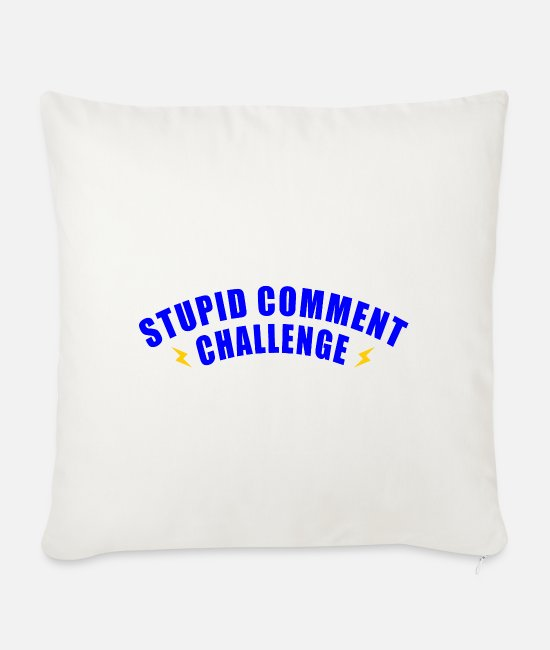 Grandpa Pillow Cases - STUPID COMMENT CHALLENGE FUN GIFT SPELLING Joke - Sofa pillow with filling 45cm x 45cm natural white