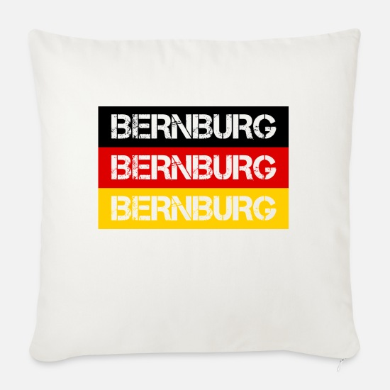 Federal Republic Of Germany Pillow Cases - STADT BERNBURG, GERMANY - Pillowcase 17,3'' x 17,3'' (45 x 45 cm) natural white