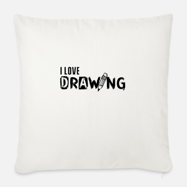 Drawing Drawing drawing drawing drawing - Sofa pillow with filling 45cm x 45cm