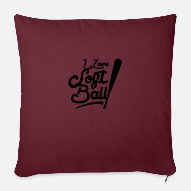 Softball Softball Softball Softball Softball - Sofa pillow with filling 45cm x 45cm
