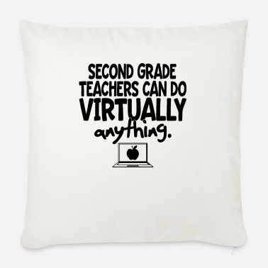 Strong Second Grade Teacher Virtual Teaching Learning Fun - Sofa pillow with filling 45cm x 45cm