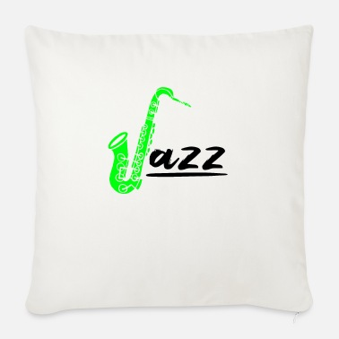 Instrument Jazz musician music lover saxophone - Sofa pillow with filling 45cm x 45cm