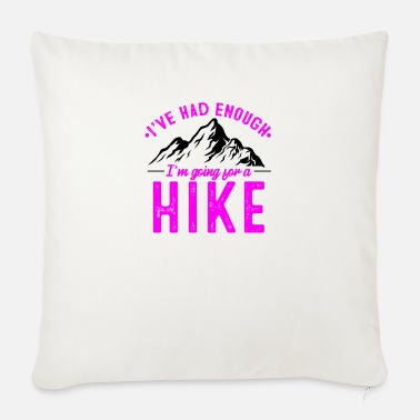 Mountains It's enough I go hiking in winter - Sofa pillow with filling 45cm x 45cm