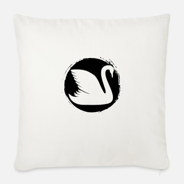Swan Swan - Swan / Zoo - animal lover / nature conservation - Sofa pillow with filling 45cm x 45cm