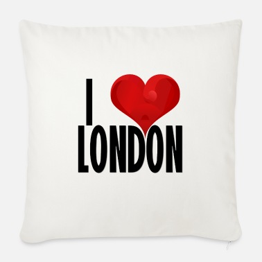 London I LOVE LONDON sort - Sofapude med fyld 44 x 44 cm