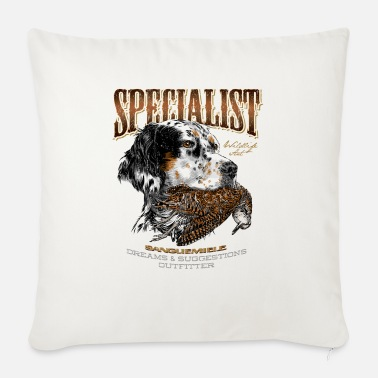 Woodcock setter and woodcock 14 - Sofa pillow with filling 45cm x 45cm