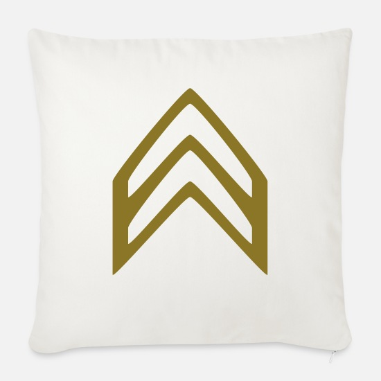 Army Pillow Cases - Insignia Corporal - Sofa pillow with filling 45cm x 45cm natural white