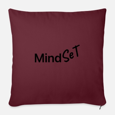 Mindset mindset mindset positivity - Sofa pillow with filling 45cm x 45cm