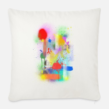 Abstract splashes - Sofa pillow with filling 45cm x 45cm