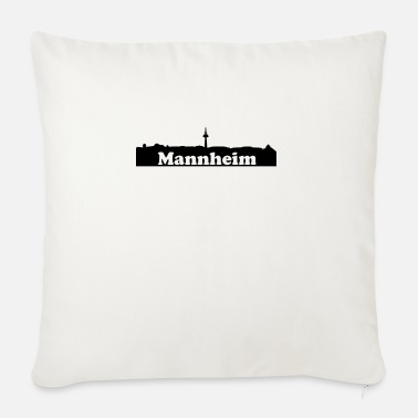Museum Mannheim + Skyline - Sofa pillow with filling 45cm x 45cm