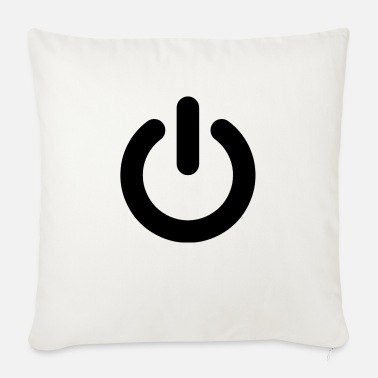 Power Power Button Black - Sofa pillow with filling 45cm x 45cm