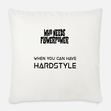 Flowers / Hardstyle - Sofa pillow with filling 45cm x 45cm