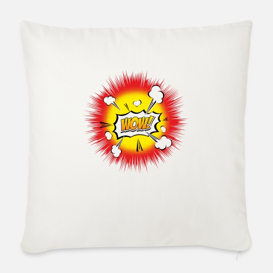 Explosion Pillow Cases - WOW EXPLOSION - Sofa pillow with filling 45cm x 45cm natural white