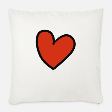 Crook crooked heart - Sofa pillow with filling 45cm x 45cm