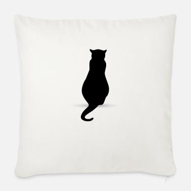 Silhouette Cat silhouette silhouettes - Sofa pillow with filling 45cm x 45cm