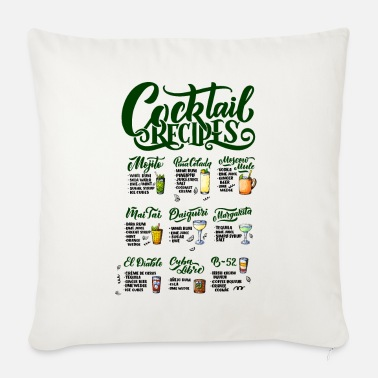 Recipe cocktail recipes - Sofa pillow with filling 45cm x 45cm