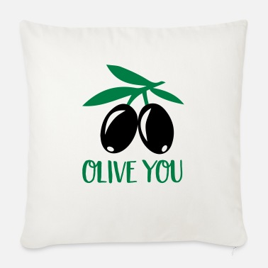 Olive olive - Sofa pillow with filling 45cm x 45cm