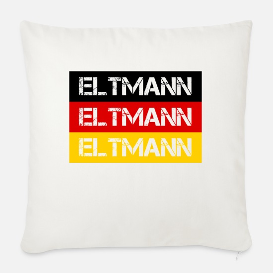 Federal Republic Of Germany Pillow Cases - STADT ELTMANN, GERMANY - Sofa pillow with filling 45cm x 45cm natural white