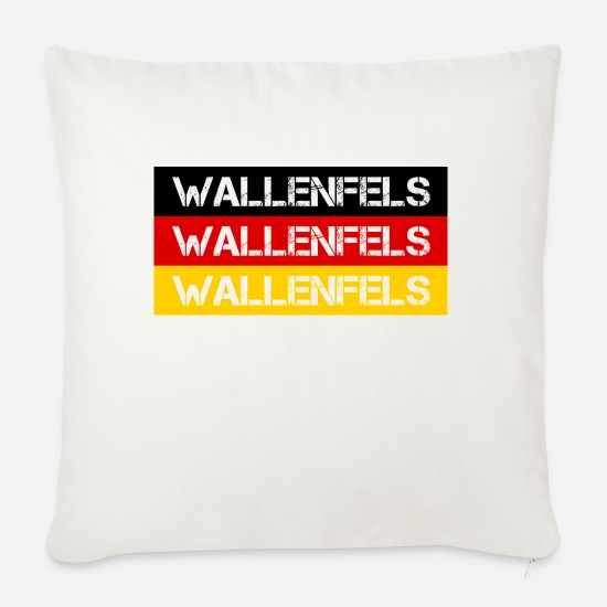 Federal Republic Of Germany Pillow Cases - STADT WALLENFELS, GERMANY - Pillowcase 17,3'' x 17,3'' (45 x 45 cm) natural white