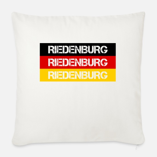 Federal Republic Of Germany Pillow Cases - STADT RIEDENBURG, GERMANY - Pillowcase 17,3'' x 17,3'' (45 x 45 cm) natural white