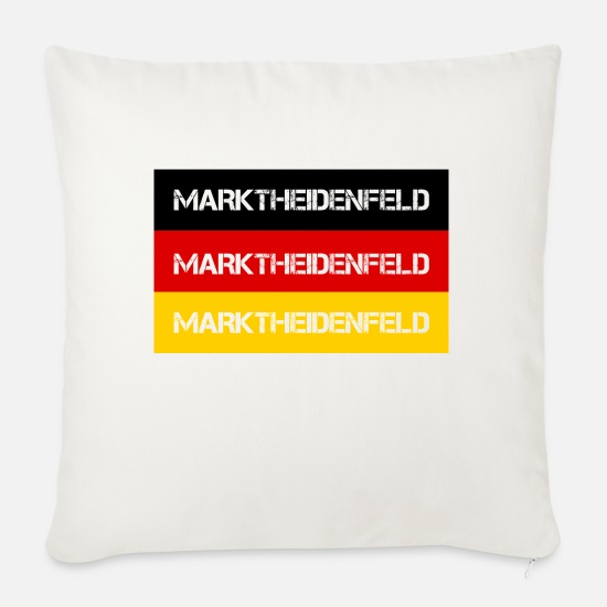 Federal Republic Of Germany Pillow Cases - STADT MARKTHEIDENFELD, GERMANY - Sofa pillow with filling 45cm x 45cm natural white